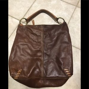 Lucky Brand Brown Leather HoBo Bag